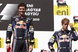 1. Mark Webber, Red Bul; 3. Sebastian Vettel, Red Bull