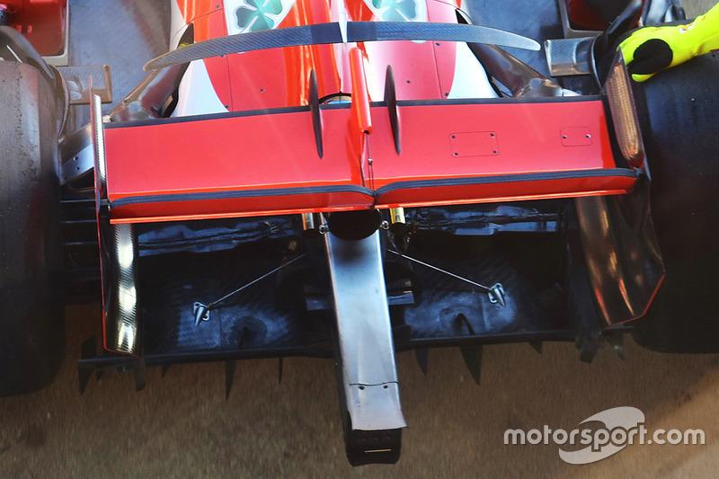 Детали задней части Ferrari SF71H