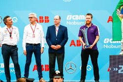 Alejandro Agag, CEO, Formula E, Ulrich Spiesshofer, Cheif Executive Officer, ABB, the DS Virgin Team mechanic