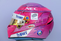 Esteban Ocon, Force India F1 helmet