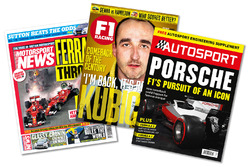 Print titles: Motorsport News, F1 Racing, Autosport