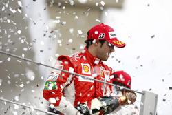 Podium: second place Felipe Massa, Ferrari