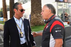 Carlos Slim Jr., Gene Haas, Founder and Chairman, Haas F1 Team