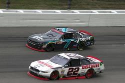 Ryan Blaney, Team Penske Ford and Justin Allgaier, JR Motorsports Chevrolet
