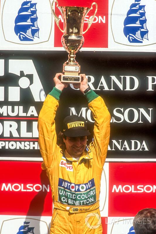 Подіум: переможець Нельсон Піке, Benetton Ford