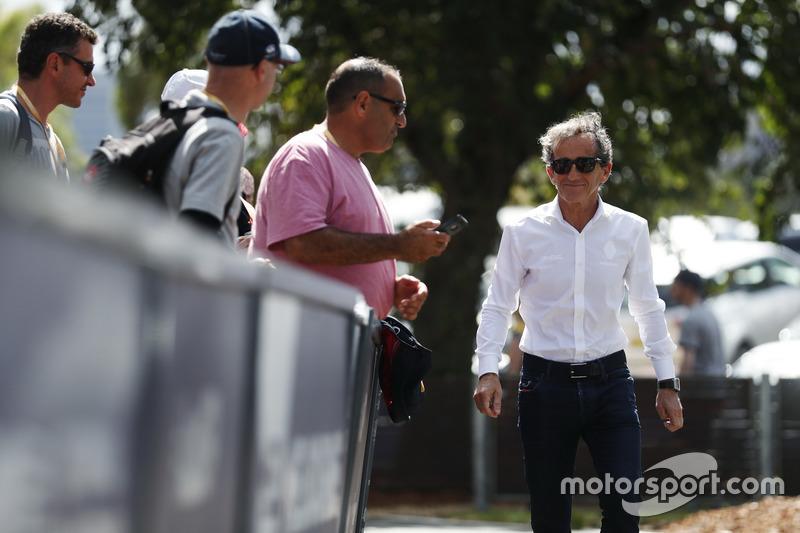 Alain Prost en Albert Park