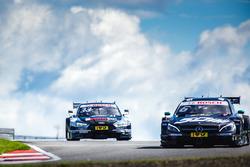 René Rast, Audi Sport Team Rosberg, Audi RS 5 DTM y Robert Wickens, Mercedes-AMG Team HWA, Mercedes-AMG C63 DTM