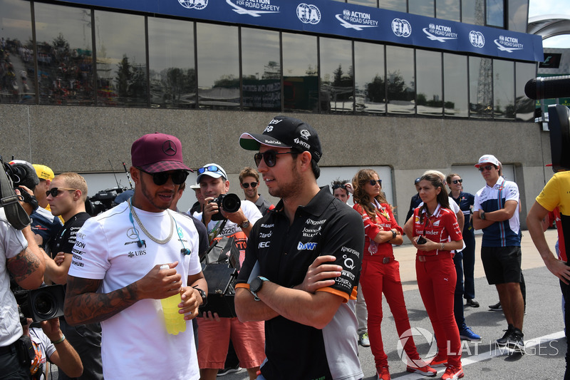 Lewis Hamilton, Mercedes AMG F1, Sergio Perez, Sahara Force India