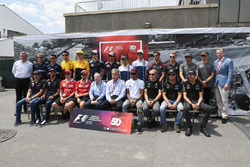 F1 driver group photo, Ross Brawn, Formula One Managing Director of Motorsports, Sean Bratches, Formula One Managing Director, Commercial Operations, Jean Todt, FIA President and Chase Carey, Chief Executive Officer and Executive Chairman of the Formula One Group