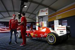 Sebastian Vettel, Ferrari, attends a Shell event