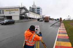 Trabajos de reasfaltado en Sachsenring