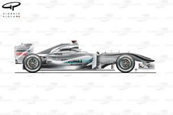 Mercedes W01 side view