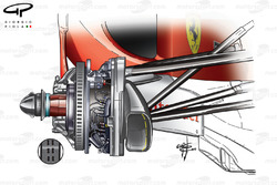 Ferrari F10 front brake cooling differences