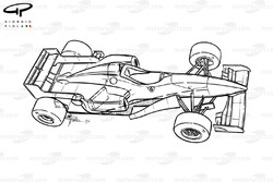 Ferrari F310 (648) 1996 schematic overview