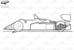 Схема Ferrari 126C4 1984 года