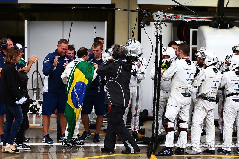 Felipe Massa, Williams aplaudido por Williams