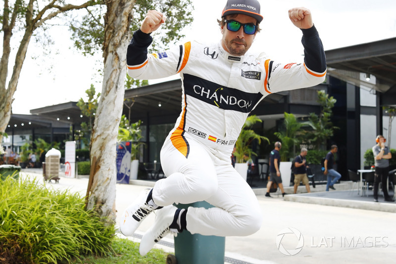 O saltitante Fernando Alonso vai largar em 10º.