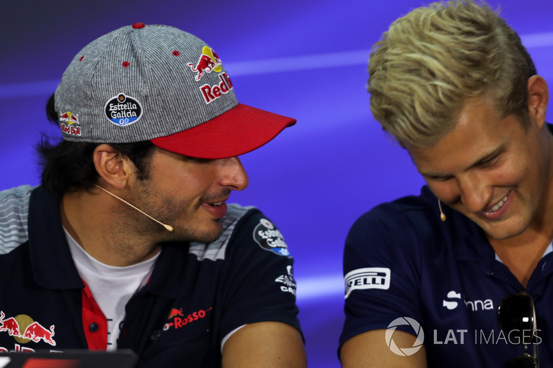 Carlos Sainz Jr., Scuderia Toro Rosso and Marcus Ericsson, Sauber in the Press Conference