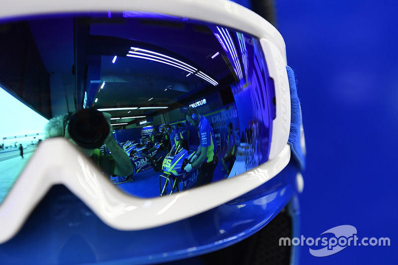 Relexion des Bikes von Andrea Iannone, Team Suzuki MotoGP