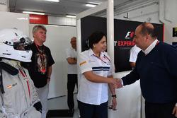 Monisha Kaltenborn, Sauber Team Prinicpal and Luca Colajanni, Formula One Senior Communications Officer