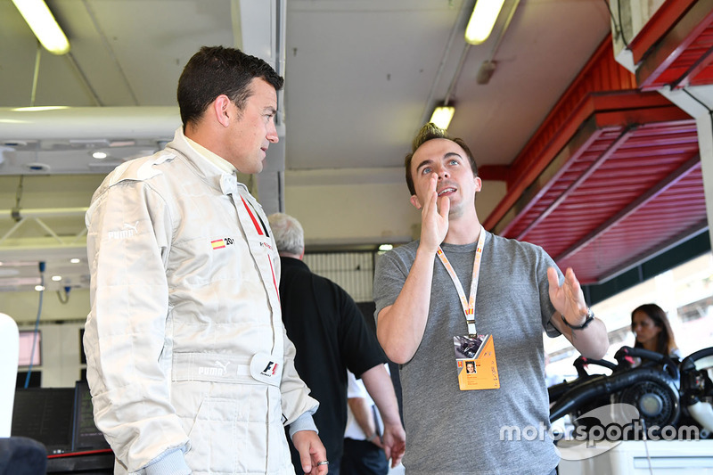 F1 Experiences 2-Seater passenger Will Buxton, NBC TV Presenter and Frankie Muniz, Actor