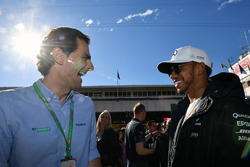 Pedro De La Rosa, Lewis Hamilton, Mercedes AMG F1