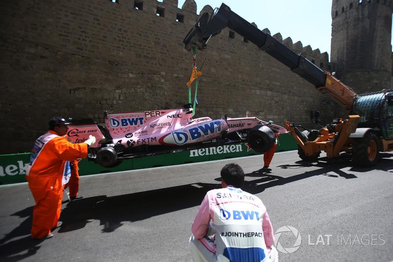 سيارة سيرجيو بيريز، فورس انديا بعد الحادث