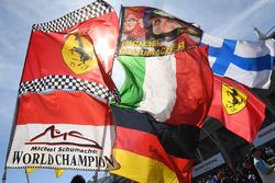 Michael Schumacher, flags