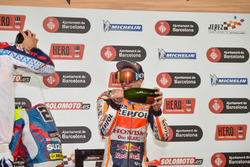 Podium: Race winner Marc Marquez