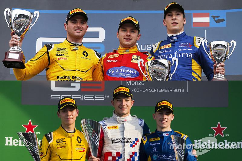 Les pilotes britanniques sur le podium en GP2 et en GP3