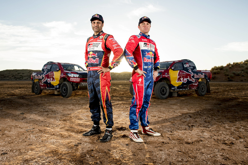 Nasser Al-Attiyah and Giniel De Villiers, Toyota Gazoo Racing