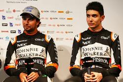 Sergio Pérez, Sahara Force India F1 con Esteban Ocon, Sahara Force India F1 Team