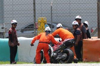 Bike of Danilo Petrucci, Ducati Team after the crash