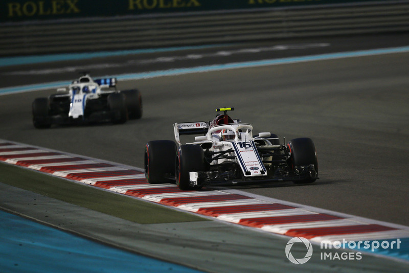 Charles Leclerc, Sauber C37 and Lance Stroll, Williams FW41