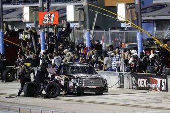 Harrison Burton, Kyle Busch Motorsports, Toyota Tundra DEX Imaging, pit stop