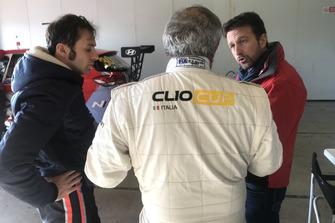 Gabriele Rizzo, Team Manager BRC Racing Team, con Franco Nugnes, direttore di Motorsport.com Italia e Luca Filippi