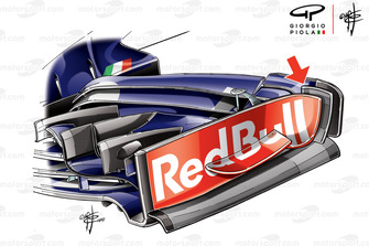 Toro Rosso STR13 endplate, captioned, United States GP