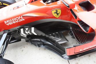 Vue détaillée des déflecteurs de Ferrari SF71H