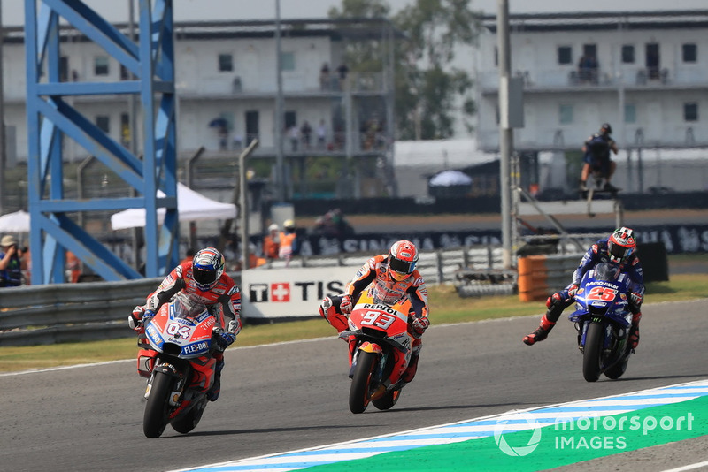 Andrea Dovizioso, Ducati Team, Marc Marquez, Repsol Honda Team, Maverick Viñales, Yamaha Factory Racing