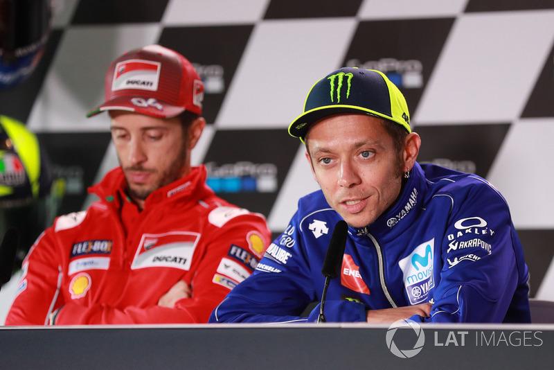 Андреа Довіціозо, Ducati Team, Валентино Россі,Yamaha Factory Racing