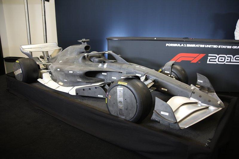 Modelo de cómo serán los F1 en 2022.