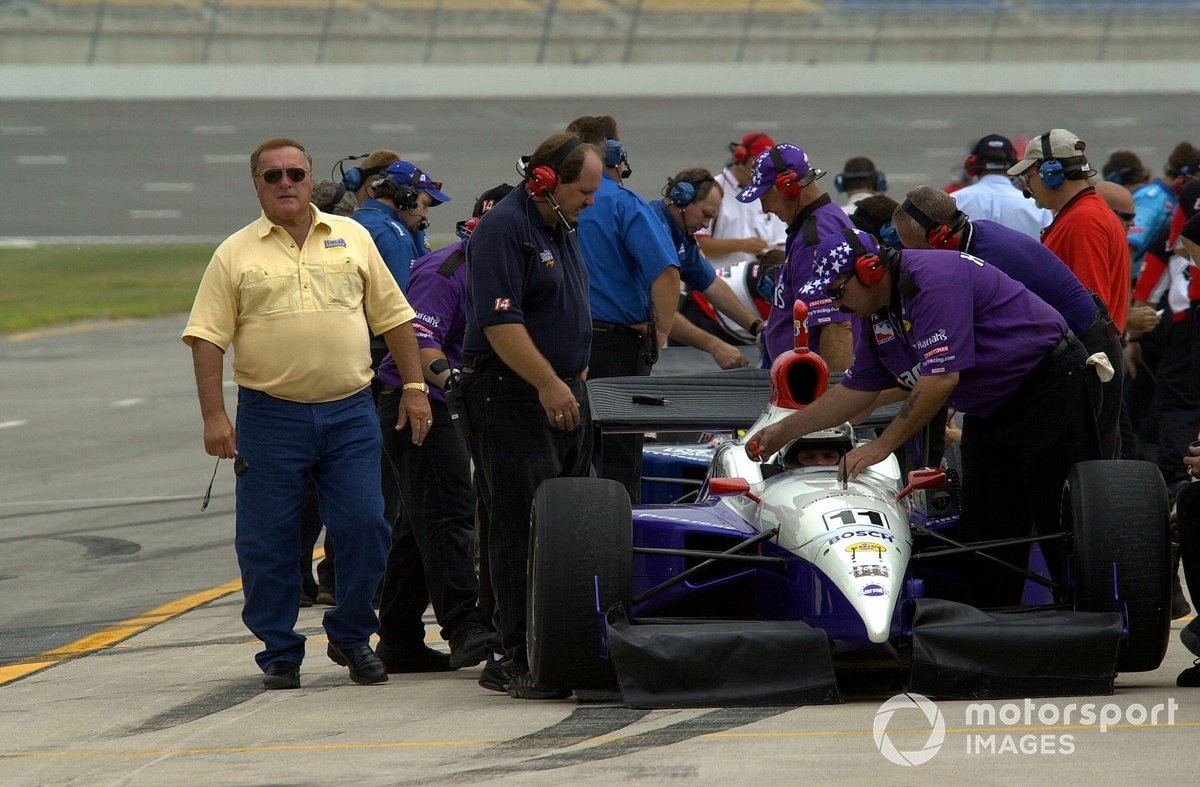 A.J.Foyt prowls the Kentucky pits