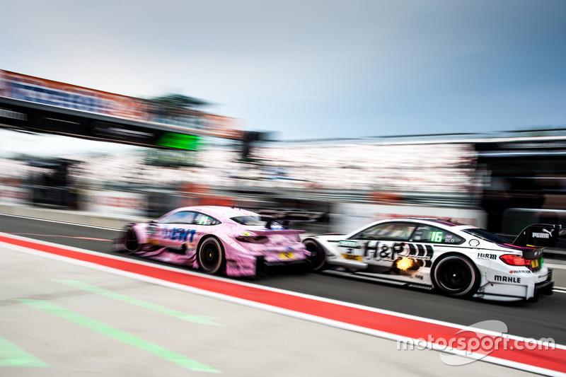 Lucas Auer, Mercedes-AMG Team Mücke, Mercedes-AMG C63 DTM e Tom Blomqvist, BMW Team RBM, BMW M4 DTM