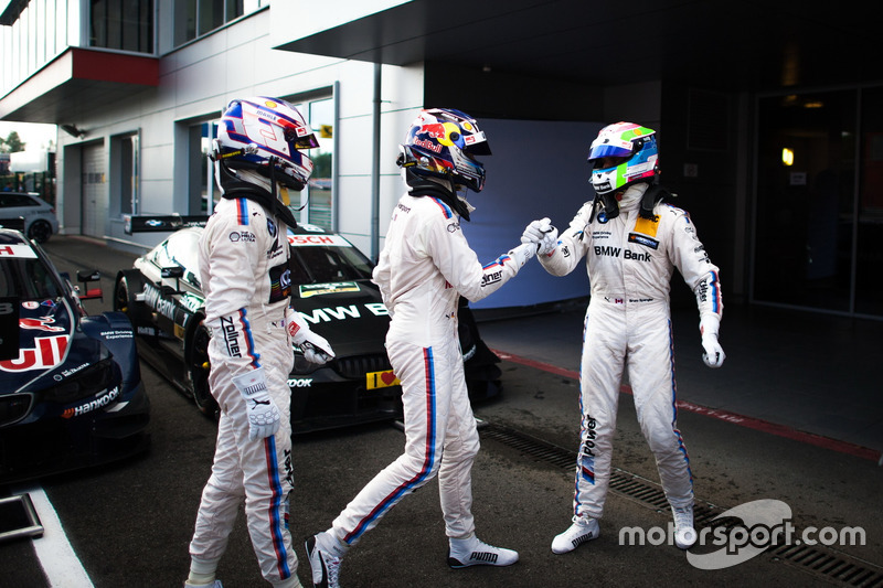 Parco chiuso: Tom Blomqvist, BMW Team RBM, BMW M4 DTM; Marco Wittmann, BMW Team RMG, BMW M4 DTM and