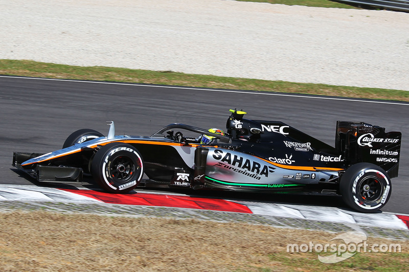 Sergio Perez, Sahara Force India F1 VJM09, mit Halo-Cockpitschutz