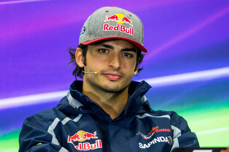 Carlos Sainz Jr., Scuderia Toro Rosso talks in the Drivers Press Conference