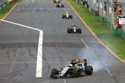 Nico Hulkenberg, Sahara Force India F1 VJM09 locks up under braking