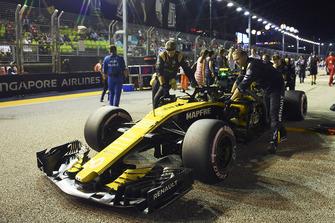 Carlos Sainz Jr., Renault Sport F1 Team R.S. 18 sur la grille