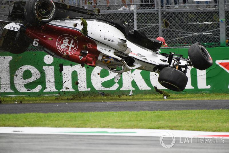 Marcus Ericsson, Sauber C37 - baleset