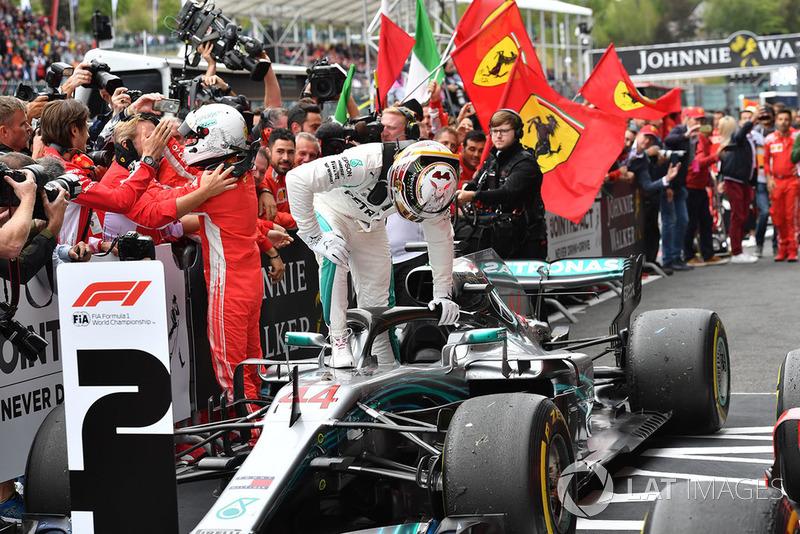 Sebastian Vettel, Ferrari y Lewis Hamilton, Mercedes AMG F1 W09